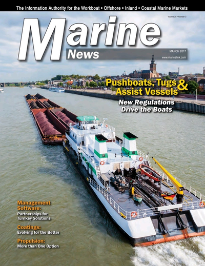 Cover of March 2017 issue of Marine News Magazine