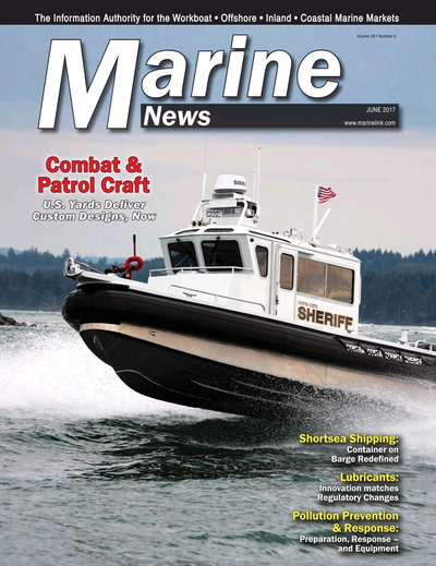 Cover of June 2017 issue of Marine News Magazine