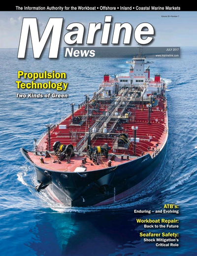 Cover of July 2017 issue of Marine News Magazine