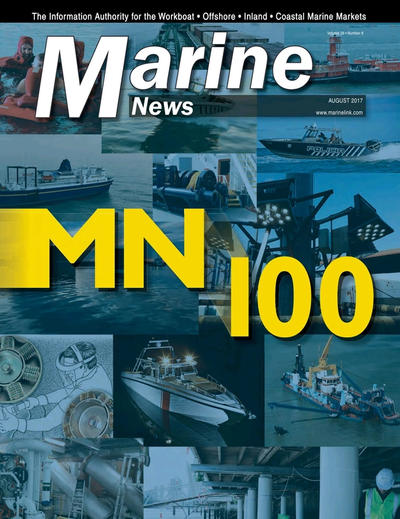 Cover of August 2017 issue of Marine News Magazine