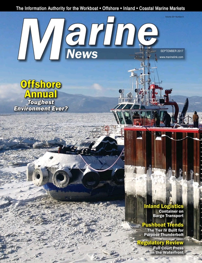 Cover of September 2017 issue of Marine News Magazine