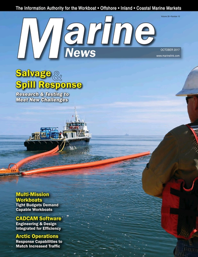 Cover of October 2017 issue of Marine News Magazine