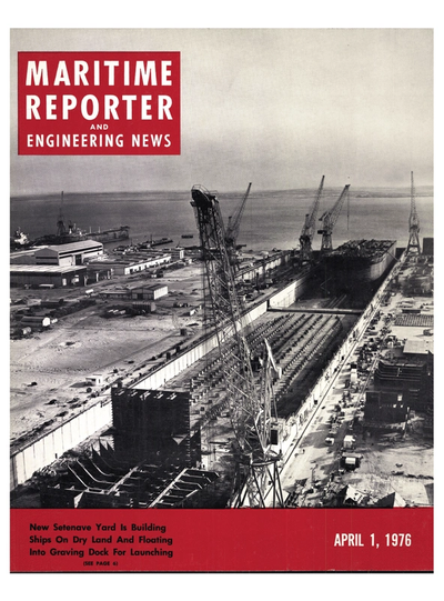 Cover of April 1976 issue of Maritime Reporter and Engineering News Magazine