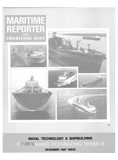 Cover of December 1987 issue of Maritime Reporter and Engineering News Magazine
