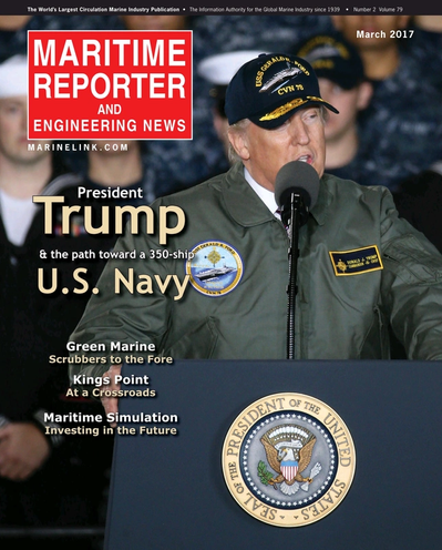 Cover of March 2017 issue of Maritime Reporter and Engineering News Magazine
