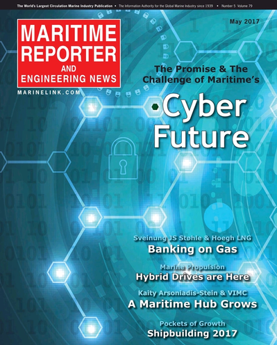 Cover of May 2017 issue of Maritime Reporter and Engineering News Magazine