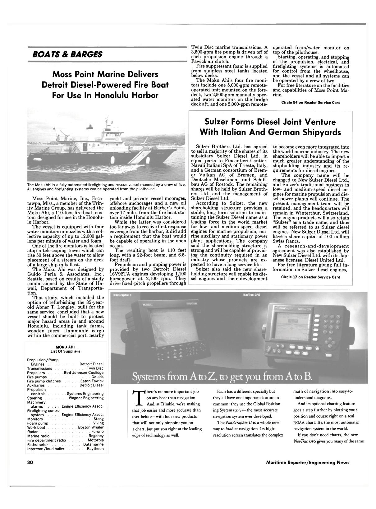 Viewmaritime Reporter And Engineering News September 1990 Viking 2000a Intercom Wiring Diagram 28