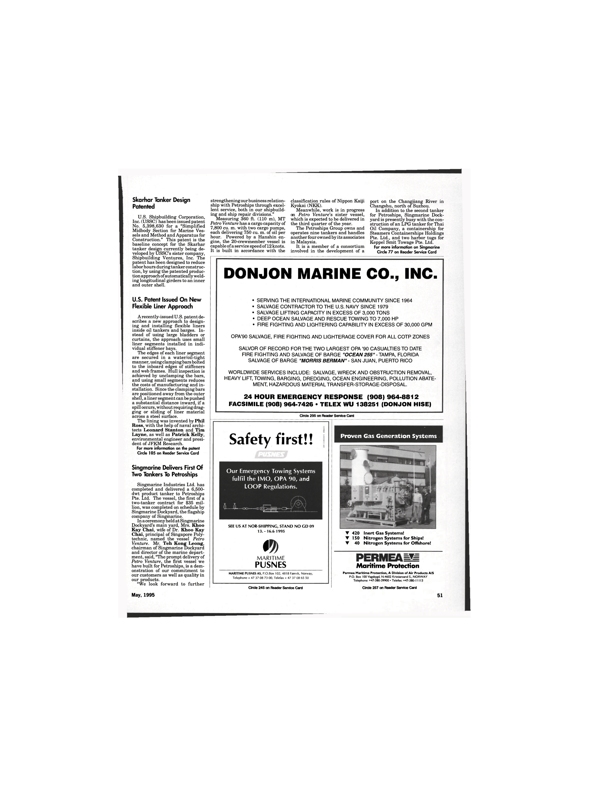 ViewMaritime Reporter and Engineering News (May 1995)