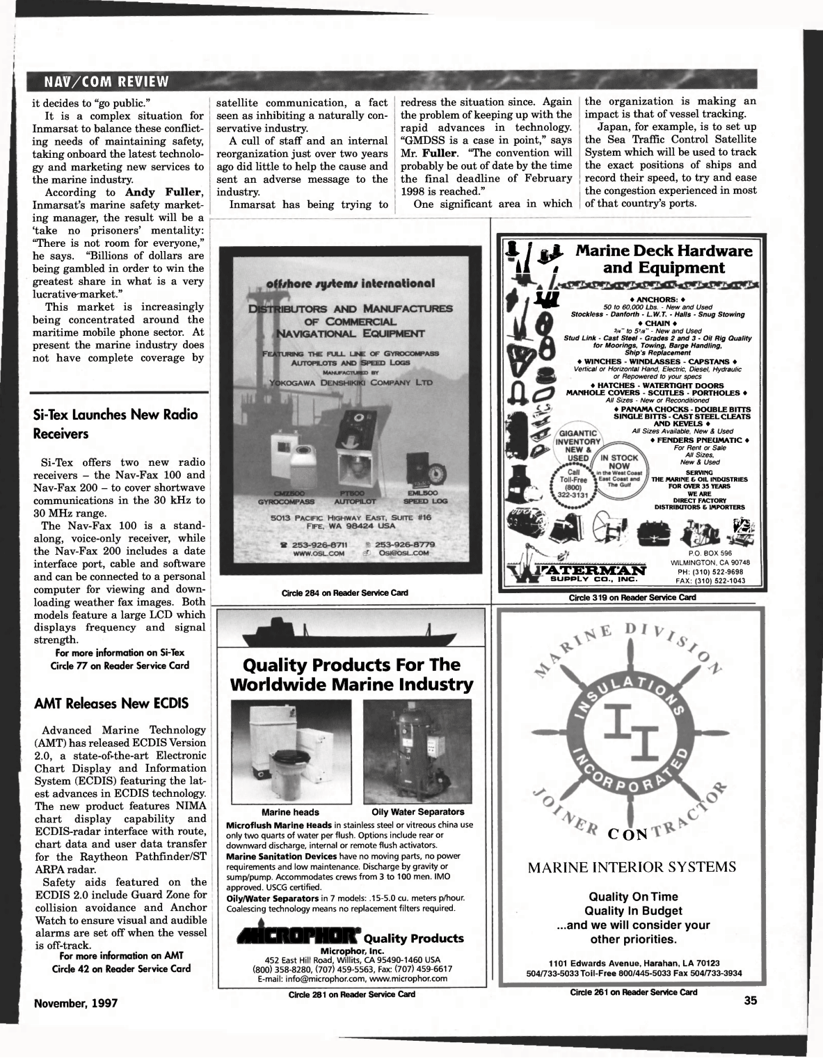 ViewMaritime Reporter and Engineering News November 1997