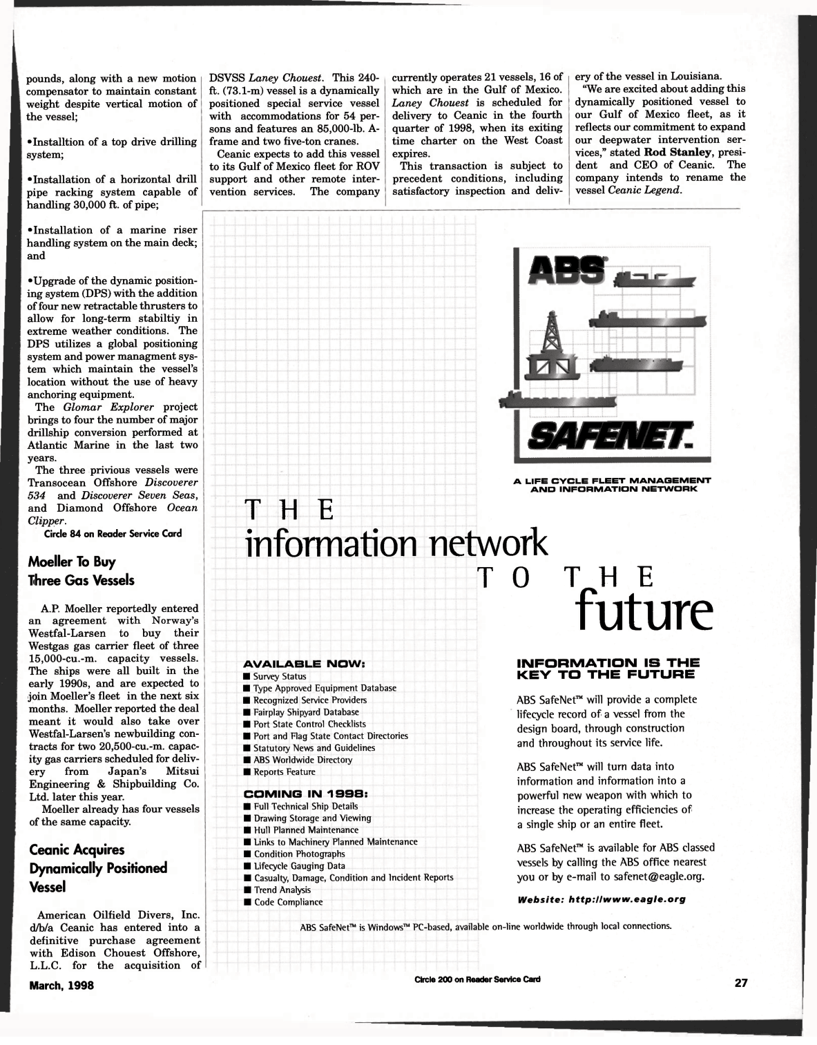 ViewMaritime Reporter and Engineering News (March 1998)