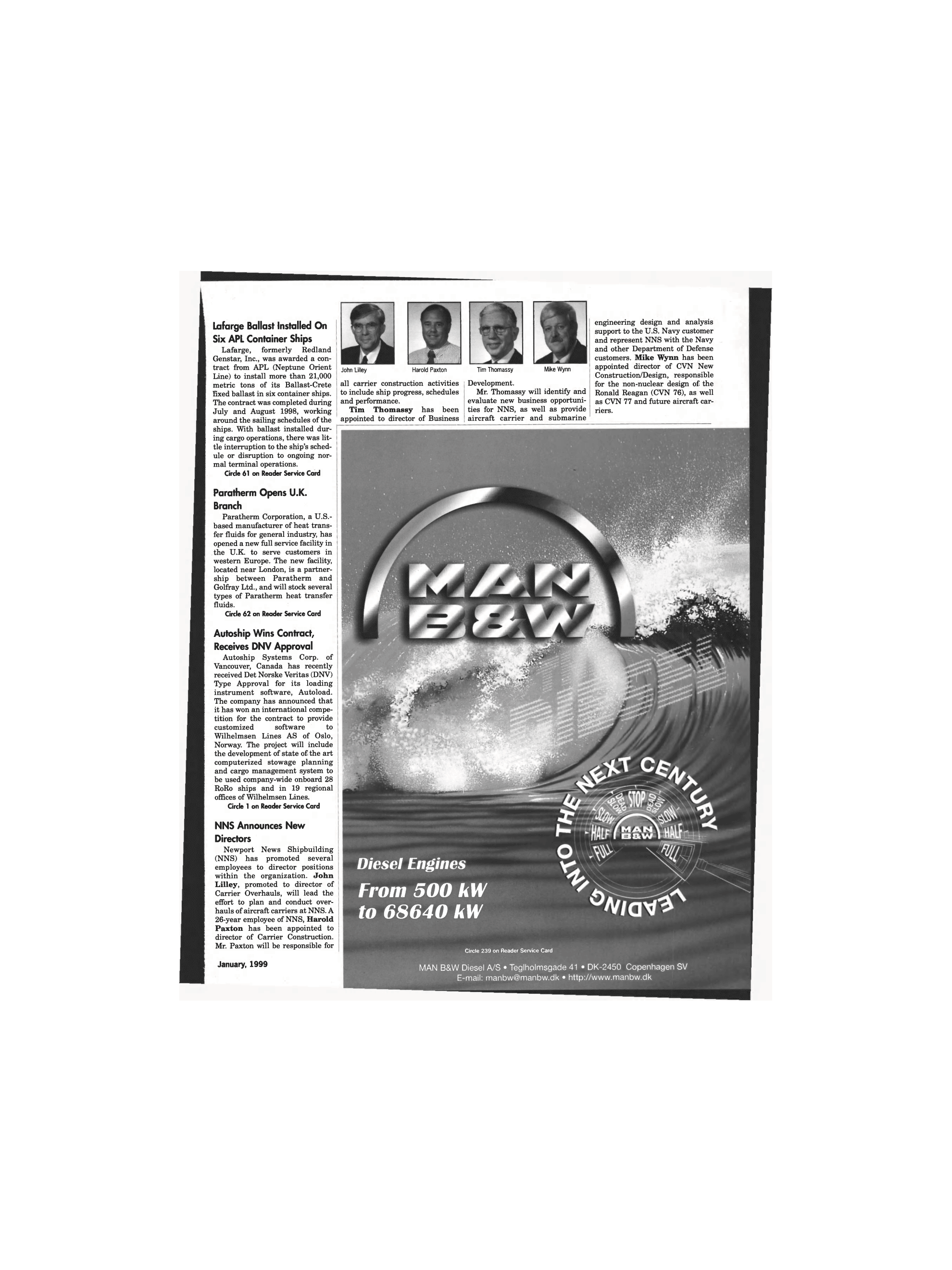 ViewMaritime Reporter and Engineering News (January 1999)