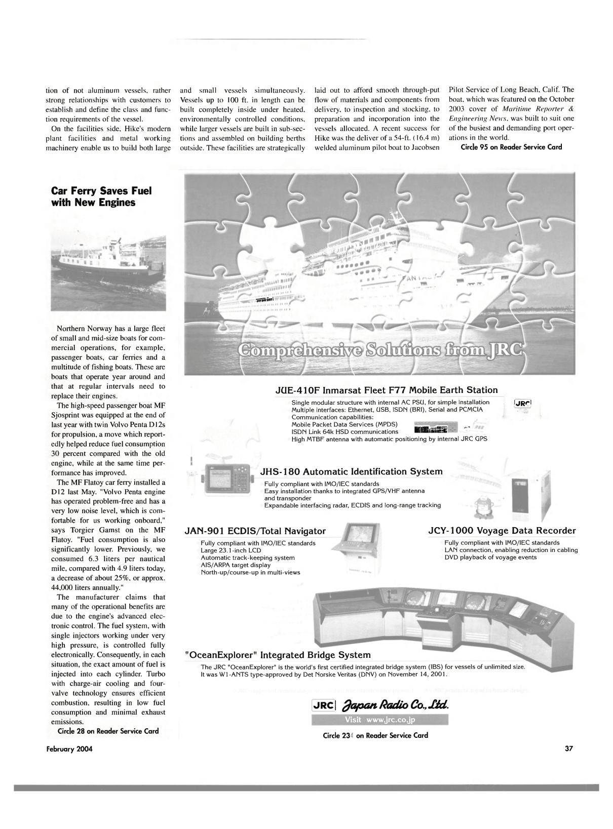 Viewmaritime Reporter And Engineering News February 2004 Navigator Wiring Fm Antenna Diagram 42