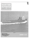 Logo of November 15, 1981 - Maritime Reporter and Engineering News