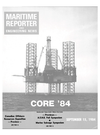 Logo of September 15, 1984 - Maritime Reporter and Engineering News