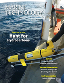 Marine Technology Magazine Cover Oct 2018 - Ocean Observation: Gliders, Buoys & Sub-Surface Networks