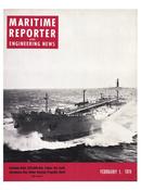 Maritime Reporter Magazine Cover Feb 1974 -