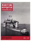 Maritime Reporter Magazine Cover Apr 1974 -