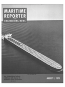 Maritime Reporter Magazine Cover Aug 1978 -