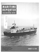 Maritime Reporter Magazine Cover Aug 15, 1978 -