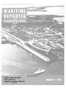 Maritime Reporter Magazine Cover Feb 1980 -