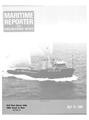 Maritime Reporter Magazine Cover Jul 15, 1980 -