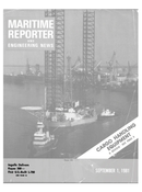 Maritime Reporter Magazine Cover Sep 1981 -