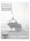 Maritime Reporter Magazine Cover Nov 15, 1983 -