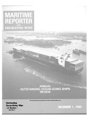 Maritime Reporter Magazine Cover Dec 1984 -