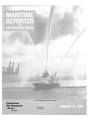 Maritime Reporter Magazine Cover Jan 15, 1985 -