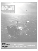 Maritime Reporter Magazine Cover Feb 15, 1985 -