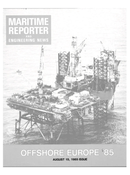 Maritime Reporter Magazine Cover Aug 15, 1985 -