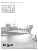 Maritime Reporter Magazine Cover Sep 1985 -