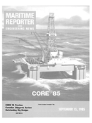 Maritime Reporter Magazine Cover Sep 15, 1985 -
