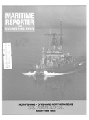 Maritime Reporter Magazine Cover Aug 1986 -
