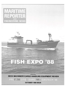 Maritime Reporter Magazine Cover Oct 1988 -