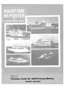 Maritime Reporter Magazine Cover Jan 1989 -