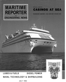 Maritime Reporter Magazine Cover Jul 1992 -