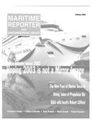 Maritime Reporter Magazine Cover Feb 2003 -