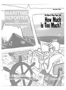 Maritime Reporter Magazine Cover Nov 2003 -