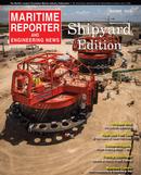 Maritime Reporter Magazine Cover Aug 2013 - Shipyard Edition