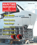 Maritime Reporter Magazine Cover Sep 2014 - Marine Propulsion Edition