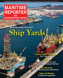 Maritime Reporter Magazine Cover Aug 2015 - Shipyard Edition