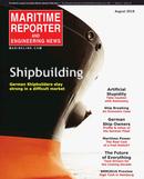 Maritime Reporter Magazine Cover Aug 2016 - The Shipyard Edition