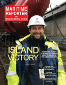 Maritime Reporter Magazine Cover Apr 2020 - Offshore Energy Edition