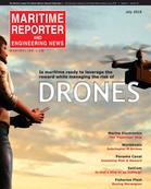 Maritime Reporter Magazine Cover Jul 2016 - Marine Communications Edition