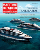 Maritime Reporter Magazine Cover Feb 2018 - Cruise Ship Annual
