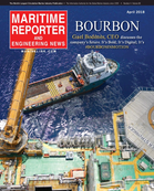 Maritime Reporter Magazine Cover Apr 2018 - Offshore Energy Annual