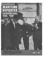 Maritime Reporter Magazine Cover Apr 1972 -