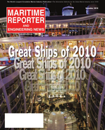 Maritime Reporter Magazine Cover Dec 2010 - Great Ships of 2010