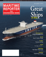 Maritime Reporter Magazine Cover Dec 2012 - Great Ships of 2012